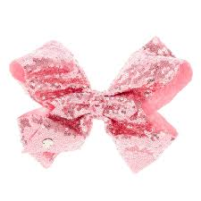 pink bows jojo siwa large pastel pink sequin hair bow s