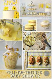 yellow themed baby shower ideas with a chic and modern style