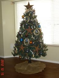 western cowboy themed christmas tree love the copper and blue