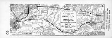 Phoenix Road Map by File Automobile Road From Los Angeles Cal To Phoenix Ariz Via