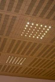 Sound Proof Basement Ceiling by Acoustic Suspended Ceiling Tile Perforated Idealed Ideatec