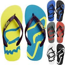 fox motocross socks racing beached mens sandal flip flops
