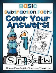 three new winter themed color your answers resources for addition