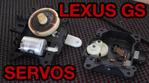 lexus air conditioning servo repair and cleaning guide youtube