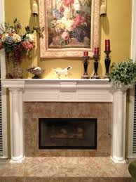 indoor fireplace ideas with traditional granite on top feat
