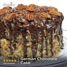german chocolate cake this one is actually pretty they always