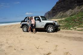 jeep wrangler beach sunset polihale state park jeep wrangler car rental kauai hawaii travel