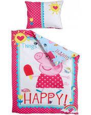 Peppa Pig Duvet Cover 100 Cotton Kids 100 Cotton Bedding High Quality Single Cotton Duvets For