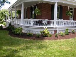 Landscaping Around House by Our New Landscape Around The Wrap Around Porch