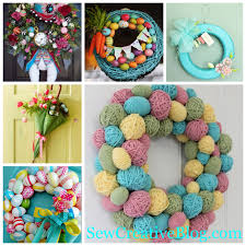 spring wreaths for front door weekly inspiration easter wreaths door decorations sew creative