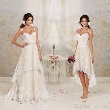 detachable wedding dress straps discount 2017 high low wedding dresses with detachable skirt