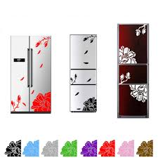 popular wall sticker floral buy cheap wall sticker floral lots 1 pc one set high quality magnolia flower refrigerator sticker home decoration elegant magnolia floral wall
