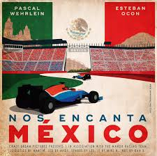 mexico poster from manor racing formula1