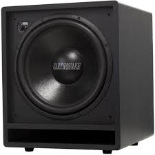 home theater subwoofer amazon com earthquake sound ff12 front firing subwoofer black