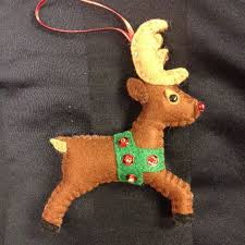 Felt Christmas Decorations Reindeer by 501 Best Felt Christmas Images On Pinterest Christmas Crafts
