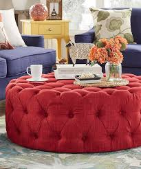 best ottoman appealing red round leather brown pertaining to