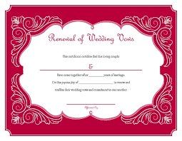 renew wedding vows free printable renewal of wedding vows certificate i do still