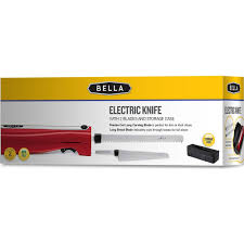 bella 14527 electric knife with bread knife red walmart com