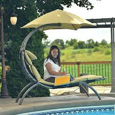 Outdoor Lounge Chair With Canopy Chaise Lounge Chair With Cushion Patio Outdoor Furniture Umbrella