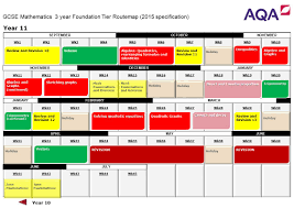 Sas Route Map by Gcse Mathematics 3 Year Foundation Tier Routemap 2015