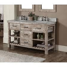 Rustic Wood Bathroom Vanity - rustic style 60 inch single sink bathroom vanity and matching wall