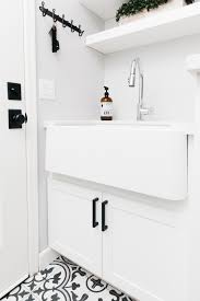 blanco ikon apron sink laundry room mudroom reveal our house remodel the tomkat studio