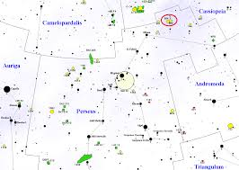 Double Map Double Cluster Ngc 869 And Ngc 884 Constellation Guide