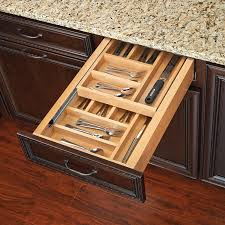kitchen cabinet drawer inserts rev a shelf tiered double cutlery drawer for 18
