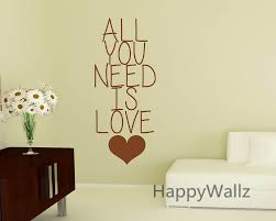 popular custom vinyl wall stickers buy cheap love quote wall sticker all you need lettering decals diy wallpaper