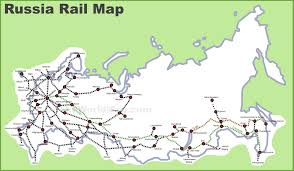 Russia Map Image Large Russia by Russia Rail Map