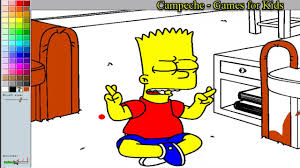 simpsons online coloring pages bart simpson 14 youtube