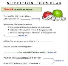 nutrition formulas how many calories fat sugar grams should you