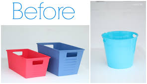 turn dollar store bins into stylish storage domestically speaking
