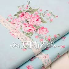 Shabby Chic Floral Curtains by Cotton Fabric Shabby Chic Floral Fabric Fabric Bundle Of 2 0 5