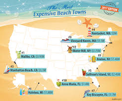 Map Of The Hamptons America U0027s Most U2014and Least U2014affordable Beach Towns 2017 Edition
