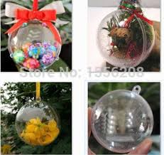 pack of 12 creative clear plastic ornaments fillable