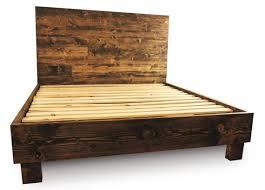25 Best Bed Frames Ideas On Pinterest Diy Bed Frame King by Bedroom Outstanding Rustic Solid Wood Platform Bed Frame Headboard