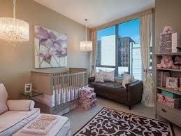 Pink And Brown Curtains For Nursery by Cool Decorating Ideas Using Rectangular Black Iron Bench Also With