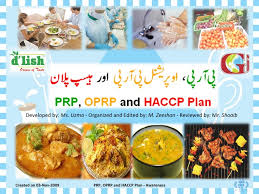haccp d inition cuisine prp oprp haccp plan awareness urdu