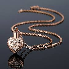 memorial necklace for ashes molike stainless steel in heart cremation necklace ashes urn