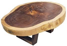 Slab Coffee Table Wood Free Form Slab Coffee Table