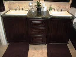 Bathroom Granite Double Sink Vanity Top In Dark With Decorative - Elegant bathroom granite vanity tops household