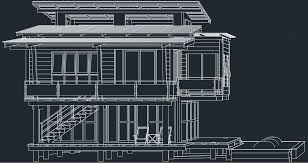 Cad House Modern House Free Cad Block And Autocad Drawing
