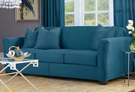 Surefit Sofa Slipcovers by Love The Peacock Blue Color Of This Heavyweight Stretch Suede