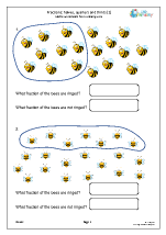 fraction worksheets for year 3 age 7 8