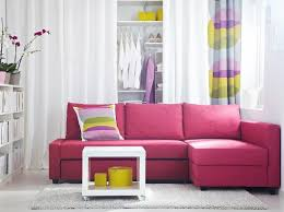 Sectional Sofa In Small Living Room Furniture Small Living Room With L Shaped Pink Sectional Sofa