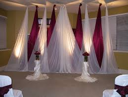 beautiful hall wedding decoration in red and white
