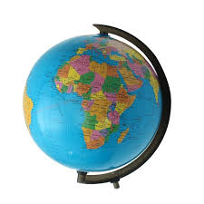shop modern 32cm world globe map ornaments with swivel stand