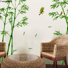 compare prices on mural stickers bamboo online shopping buy low green bamboo forest wall stickers vinyl diy decorative mural art for living room cabinet decoration home