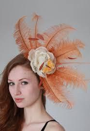 pale orange fascinator crown jules hats